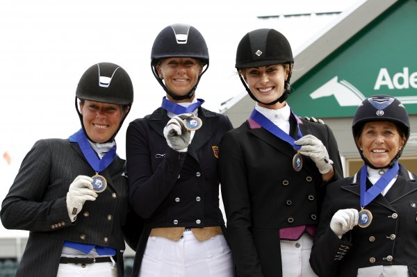 © Mary Adelaide Brakenridge: Team USA I, Gold Medalists at the Wellington Nations Cup CDIO3*: Kimberly Herslow, Heather Blitz, Caroline Roffman, Shelly Francis