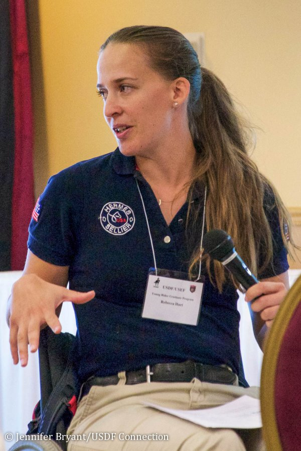 © Jennifer Bryant : Paralympian Rebecca Hart gave a lecture about syndication. Photo by Jennifer Bryant.